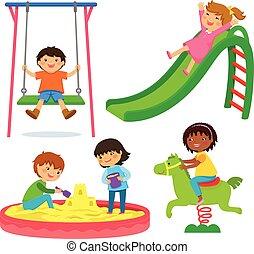 dzieciaki, plac gier i zabaw