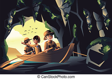 dzieciaki, podróż, przygoda