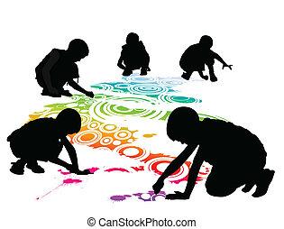 dzieciaki, rysunek