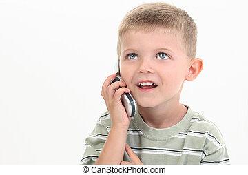 dziecko chłopieją, cellphone