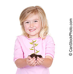 dziecko, dzierżawa, niejaki, roślina