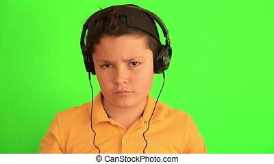 dziecko, muzykować słuchanie, taniec