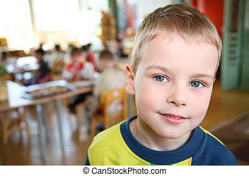 dziecko, w, przedszkole