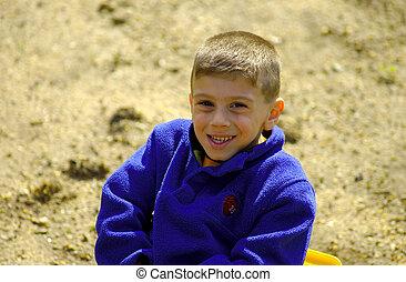 dziecko, w, sandbox