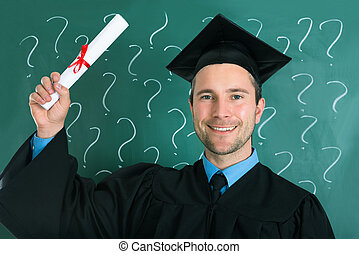 dzierżawa, absolwent, dyplom, świadectwo, człowiek
