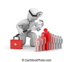 dzierżawiąc, doktor, personel