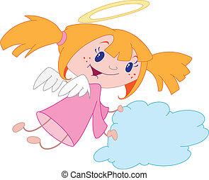 dziewczyna, anioł
