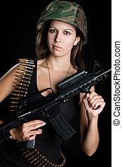 dziewczyna, armia