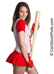 dziewczyna, baseball