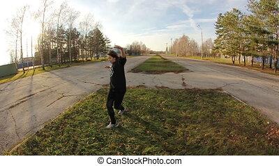 dziewczyna, breakdance