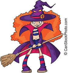 dziewczyna, czarownica