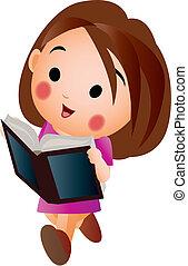 dziewczyna czytanie, książka