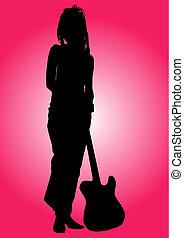 dziewczyna, gitarzysta