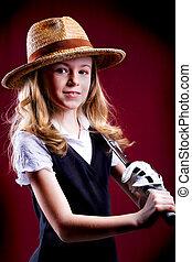 dziewczyna, golf