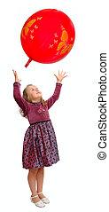 dziewczyna, interpretacja, z, balloon.