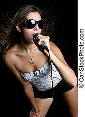 dziewczyna, karaoke