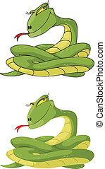 dziewczyna, komplet, wąż