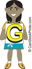 dziewczyna, litera g