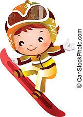 dziewczyna, narciarstwo