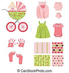 dziewczyna niemowlęcia, elementy