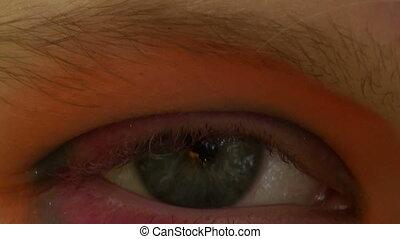 dziewczyna, oko