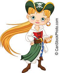 dziewczyna, pirat