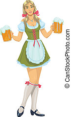 dziewczyna, piwo