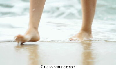 dziewczyna, plaża