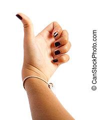 dziewczyna, ręka