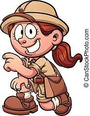 dziewczyna, safari