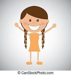 dziewczyna, szczęśliwy