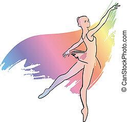 dziewczyna, taniec, balerina