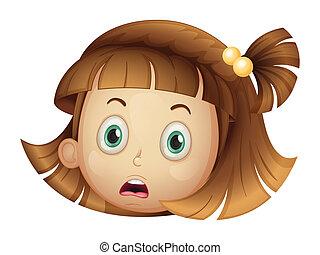 dziewczyna, twarz