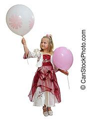 dziewczyna, z, niejaki, balloons.