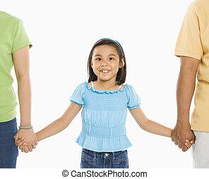 dziewczyna, z, parents.