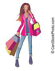 dziewczyna, zakupy