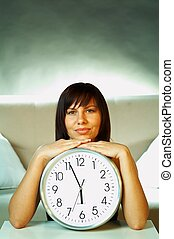 dziewczyna, zegar