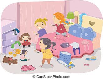 dziewczyny pokój