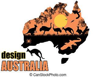 dziki, afisz, australia