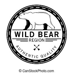 dziki, niedźwiedź, :, niedźwiedź, etykieta
