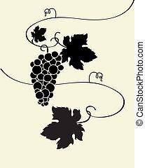 dziki, winogrona