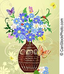 dzikie kwiecie, wazon