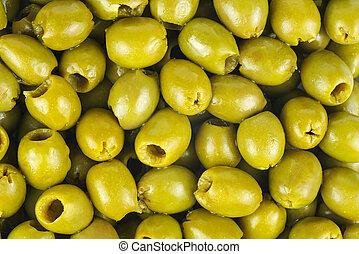 dziobaty, oliwki, zielony