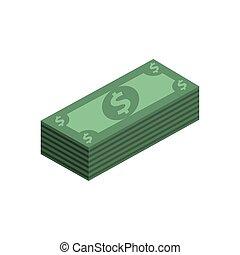 dzioby, nuta, pieniądze, ikona, bank