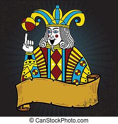 dzsóker, mód, kártya játék, ábra