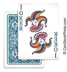 dzsóker, tervezés, eredeti, kártya