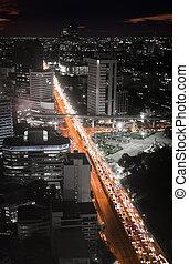 dzsem, forgalom, autóút, éjszaka