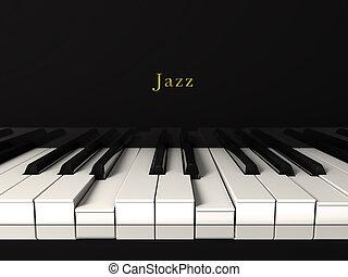 dzsessz, piano.