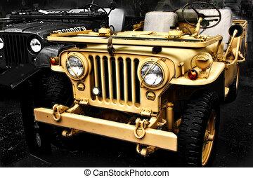 dzsip, collectible, ww2, öreg, jármű