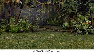 dzsungel, színhely
